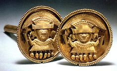 Earflare  Date: 11th–13th century Geography: Peru Culture: Sicán (Lambayeque) Medium: Gold