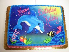 Dolphin Birthday Cakes | NY Super Foods