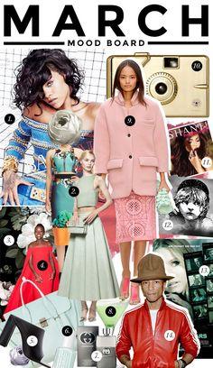 Resultado de imagen de moodboard fashion