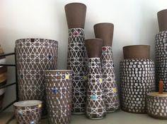 """Corso"" line - Ingrid Atterberg. Mid century Swedish potter of mod graphic wares"