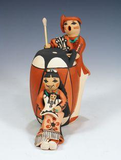 Jemez Pueblo Pottery Storyteller by Carol Lucero-Gachupin