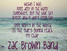 zac brown band - knee deep feat. jimmy buffett lyrics - Google Search                                                                                                                                                      More