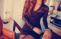 pretty medieval lace up dress without sleeves | lace dress black dress brunette fashion style designer cute