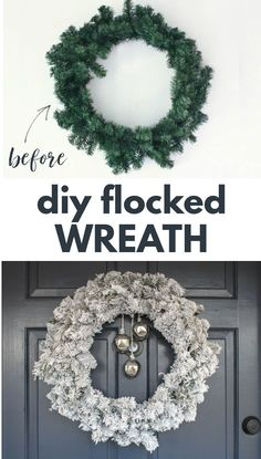 It's really easy to turn a cheap pine wreath into a beautiful flocked wreath. Real flocking powder can make any old wreath look amazing! Come see just how easy it is!