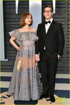 Andy Samberg and wife Joanna Newsom Cute Celebrity Couples, Andy Samberg, Engagement Shoots, Love Of My Life, Formal, Celebrities, Board, Outfits, Accessories