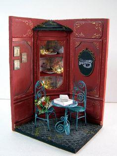 Le cafe miniature scene!