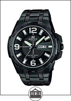 Casio EFR-104BK-1AVUEF - Reloj de pulsera hombre, acero inoxidable, color negro de  ✿ Relojes para hombre - (Gama media/alta) ✿