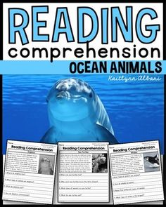 Reading Comprehension Passages - Ocean Animals!