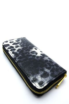 Black and Gray Multi Genuine Leather Zip Wallet  #DiscountedPalace #ZipAround