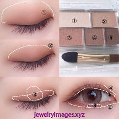 Ultimate Step-by-step Tutorial For Perfect Face Makeup Application - eye makeup tutorial; eye makeup for brown eyes; Ultimate Step-by-step Tutorial For Perfect Face Makeup Application Korean Makeup Look, Korean Makeup Tips, Asian Eye Makeup, Korean Makeup Tutorials, Eye Makeup Steps, Face Makeup, Ulzzang Makeup Tutorial, Nerd Makeup, Korean Makeup Tutorial Natural