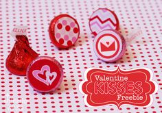 Amanda's Parties TO GO: FREEBIE Valentines Hershey Kiss Stickers