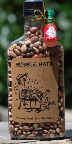 Redneck Bubble Bath A true redneck indulgence - bubbles in the bath. Redneck Bubble Bath A true redneck indulgence - bubbles in the bath. Actually Redneck Bubble Bath is a bottl. Funny Christmas Gifts, Homemade Christmas Gifts, Christmas Humor, Redneck Christmas, Christmas Ideas, Cheap Christmas, Christmas Ornament, Christmas Carol, Creative Christmas Gifts
