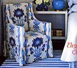 Quadrille Henriot Floral on Ecru; 100% linen; design by Phoebe Howard.