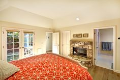 Every one needs a fireplace in their master suite.