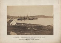 'SS Great Eastern' entering Heart's Content Bay, Newfoundland on the Transatlantic Cable expedition 1866. IET Archives SCMSS 14