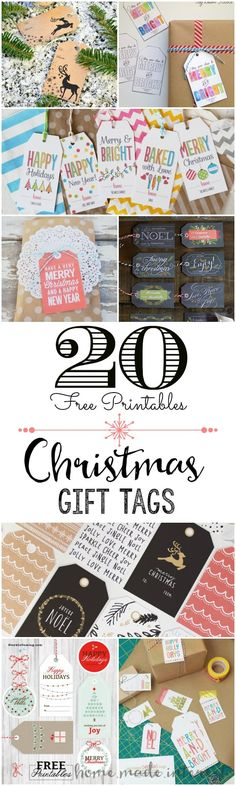 20 free printable Christmas gift tags that will make your holiday gift wrapping simple! Everything from Modern Christmas gift tags to traditional Christmas gift tags.