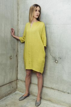 Linen Dress Motumo With Pockets 14S8 by MotumoLinen on Etsy                                                                                                                                                                                 More