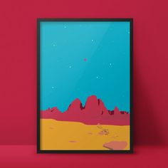 Red Mountains - In Space? Series - Poster and Postcard by Aleksandar Papez