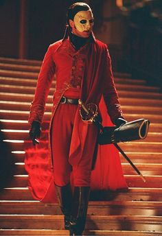 My favorite outfit of the Phantoms from the 2004 version of Phantom of the Opera the skull mask was just so awesome! !