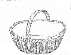 Výsledek obrázku pro kreslený proutěný košík