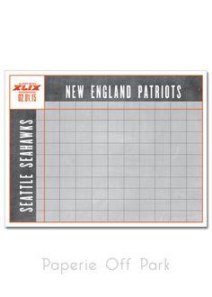 football squares printable grid template office pool football