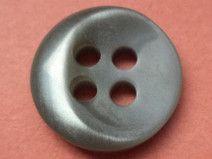 10 kleine KNÖPFE grau 13mm (916-5) Blusenknöpfe