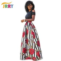 *Online Exclusive* *Online Exclusive* Two Piece Maxi skirt & Short Sleeve Black Top $50.50