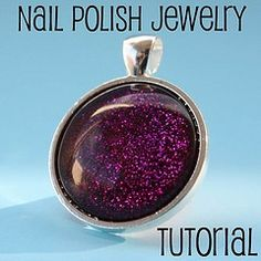 how to make nail polish jewelry - Click image to find more DIY & Crafts Pinterest pins