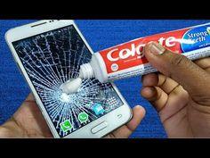 Cracked Phone Screen, Broken Screen, Amazing Life Hacks, Useful Life Hacks, Cracked Windshield Repair, Iphone Information, Life Hacks Youtube, Broken Phone, Handyman Projects