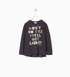 T-shirt med tekst-View All-T-skjorter-Pige | 4-14 år-BØRN | ZARA Danmark