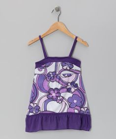 Take a look at this Purple Floral Dress - Toddler & Girls by S.W.A.K. on #zulily today!