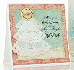 Doily Tree Card by @Julia Stainton