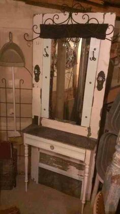 Another make up vanity from an old door.