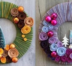 Risultati immagini per couronne de noel a fabriquer Christmas Activities, Christmas Projects, Christmas Art, Handmade Christmas, Christmas Decorations, Christmas Ornaments, Baby Crafts, Holiday Crafts, Diy Natal