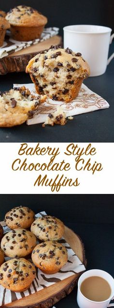 Bakery Style Chocolate Chip Muffins (video) is part of Easy chocolate chip muffin recipe - The BEST goto recipe for homemade chocolate chip muffins This is a moist bakery style muffin, loaded with chocolate chips and a skyhigh muffin top Homemade Chocolate Chip Muffins, Homemade Muffins, Chocolate Muffin Recipes, Choclate Chip Muffins Recipe, Chocolate Chip Cupcakes, Chocolate Chip Bread, Chocolate Mouse, Fluffy Muffins Recipe, Recipes With Chocolate Chips