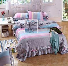 Ribbon Time 100% Cotton Cheap Duvet Covers - Shelayer.com Cheap Bedding Sets, Bedding Sets Online, Wholesale Ribbon, Time 100, Buy Cheap, Comforters, Duvet Covers, Blanket, Cotton
