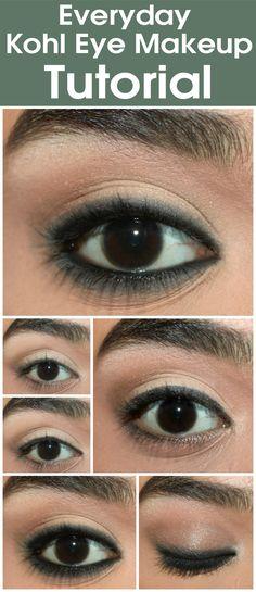 Everyday Kohl Eye Makeup - Tutorial