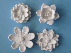 Flower Garden Wall Hanging, ceramic wildflower, blackberry, camelia, and daisy sculptures, flower art.