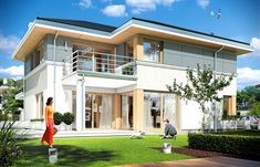 Projekt domu Sydney 267,35 m2 - koszt budowy - EXTRADOM Sims 4 Build, Modern House Design, Home Fashion, Sydney, Villa, Explore, How To Plan, Mansions, House Styles