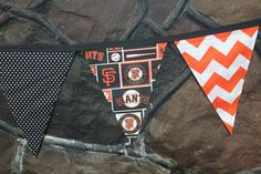 San Francisco Giants Fabric Pennant Bunting by monkeyandlamb on Etsy