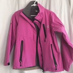 Northface coat Fleece pink north face coat size small North Face Jackets & Coats