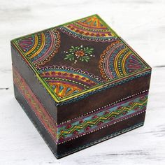 Decorated Wooden Boxes Hand Painted Wooden Box #etsy #keepsake  Crafty Pinterest