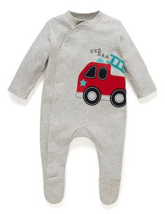 3 Pack Pure Cotton Assorted Sleepsuits (0-3 Years) | M&S