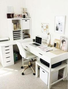Home Office Design Ideas Design Guide: Creating the Perfect Home Office Small Home Office Decorating Ideas! Your Guide to Creating the Home Office of Your Dreams Home Office Design Ideas. Home Office Space, Home Office Design, Home Office Decor, Home Design, Diy Home Decor, Office Designs, Desk Space, Office Table, At Home Office Ideas