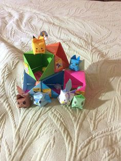 Origami Pokemon Characters And Homes I Thought Of Idea With Different Creatures Comment For Instructions