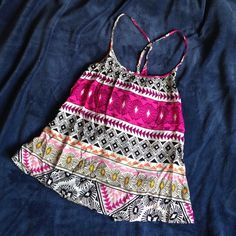Boho flowy top Cool mix of patterns and colors! Light wieght and very flowy. BRAnD nEW!!! Old Navy Tops Tank Tops