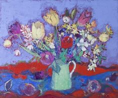 Recent Paintings from RHG (July-August Flower Art, Still Life, Vibrant Colors, Photo Wall, Artist, Flowers, Image, Paintings, Art Floral