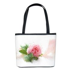 Painted Rose on white Bucket Bag at #Cafepress by #originalaufnahme