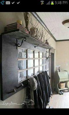 Reclaimed Door Coat Rack