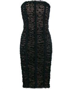 BALENCIAGA Lace Bustier Dress. #balenciaga #cloth #